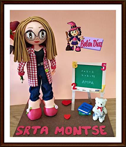 Muñeca artesanal Fofucha Profesora personalizada
