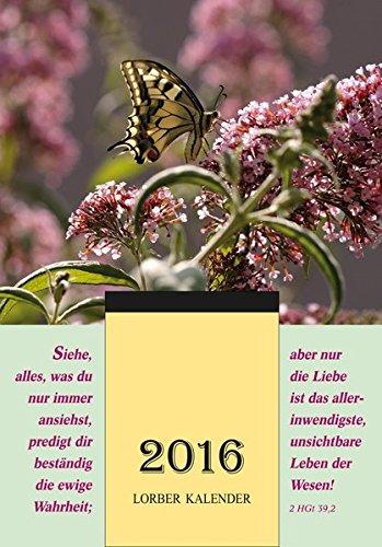 Jakob Lorber Tagesabreißkalender 2016