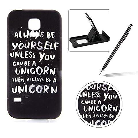 Für Samsung Galaxy S5 Mini Hülle Silikon Schutzhülle Tasche Case,Weiches Silikon TPU Gel Bumper Case (Sintetico Cassa Del Cuoio)