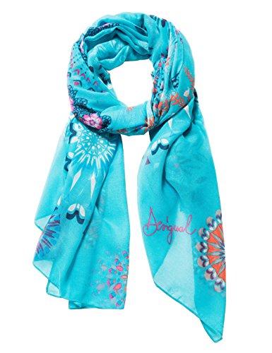 Desigual Damen Schal FULAR_Mandala, Blau (Turquesa 5013), One Size (Herstellergröße: U)