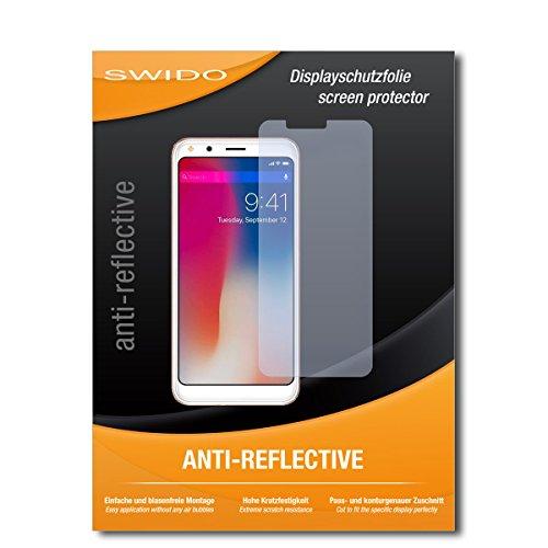 SWIDO Schutzfolie für Doogee X53 [2 Stück] Anti-Reflex MATT Entspiegelnd, Hoher Härtegrad, Schutz vor Kratzer/Displayschutz, Displayschutzfolie, Panzerglas-Folie