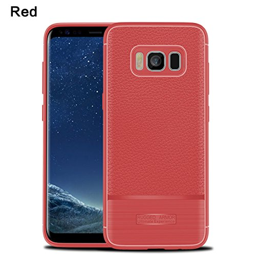 Samsung Galaxy S8 Lite Case,Excellence Back Cover [Scratch/Dust Proof] Slim Fit Protector Shockproof Rugged Full-Body Protective Cover for Samsung Galaxy S8 Lite - Red Skins Full Body Protector