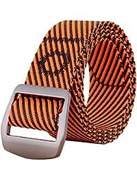 d00ecc7367 SHIZHESHOP Cintura da Uomo, Cinturino in Tela di Nylon con Fibbia in  Metallo (Color