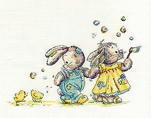 DMC Kit point de croix Motif Somebunny to Love–Blowing Bubbles bl1091/51