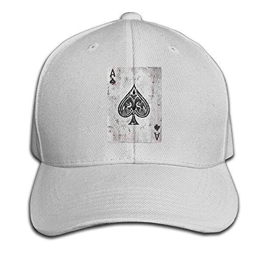 Yutirewer Ace of Spades Card Vintage Adult Adjustable Snapback Hat Sandwich Peaked Trucker Cap Baseball Cap Unisex Black Vintage-sandwich-cap