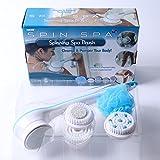 5in 1elettrico da bagno spin spa massaggio doccia spazzola di pulizia scrubber attacchi