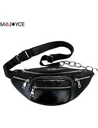 Buyworld Men Multifunctional Pu Waist Packs Women Portable Chest Bags Ni Shoulder Bag Phone Money Purse Chain...