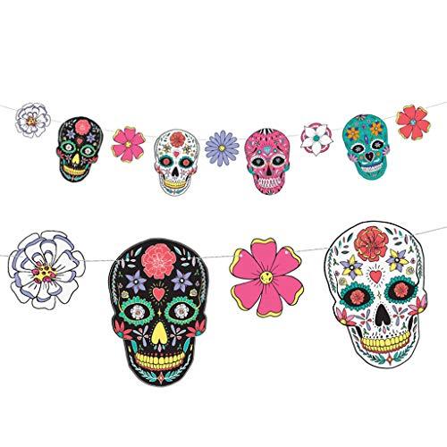 Unbekannt Girlande Totenköpfe Dia de Los Muertos 1,2m GL9