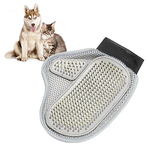 Preisvergleich Produktbild Haarkamm Badebürste Handschuhe Sanfte und effiziente Reinigung Badmassage Haustierpflege Hund Katze Liefert Haustier Zubehör 1 para Atmungsaktiver Slip (Color : Gray,  Size : M)
