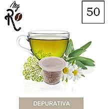 50 Cápsulas de Tisana compatibles Nespresso - Tisana Purificadora - MyRistretto - FRHOME