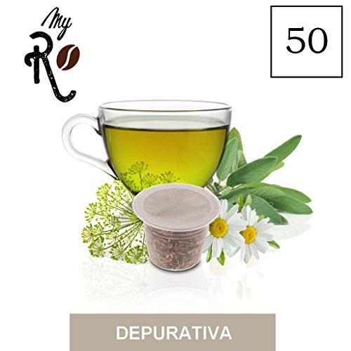 FRHOME - Nespresso 50 capsule compatibili - Tisana Depurativa - MyRistretto