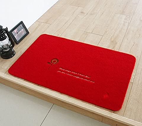 Eazyhurry Polyester Motifs brodés Paillasson Home Decor Tapis Intérieur ou extérieur Zone Tapis de sol de cuisine chemin de tapis de sol Tapis d