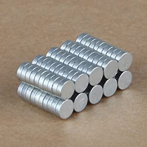 100 Imanes de Neodimio, Tierras Raras, Súper Fuertes de 3 x 1mm - N35 - Modelos de Artesanía de Big Bargain Store
