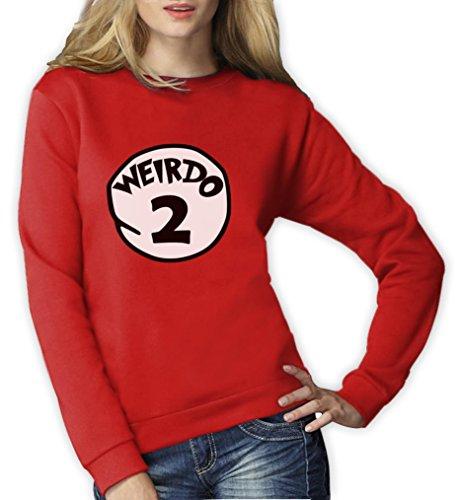 Weirdo 2 Kostüm Frauen Rot XX-Large (Für Freunde Kostüme Zwei Beste Halloween)
