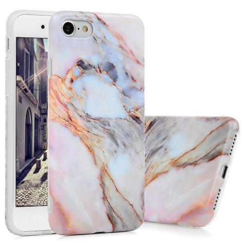 iPhone 7 Marmor Hülle, KASOS Marble Handyhülle : Silikon Case Weich TPU Huelle mit IMD Technologie für Apple iPhone 7 Jade