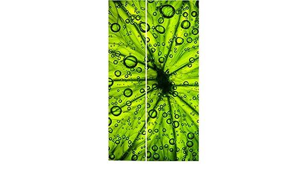 Sticker Frigo Americain Cuisine 100x180cm SAFRA0138 Citron Vert