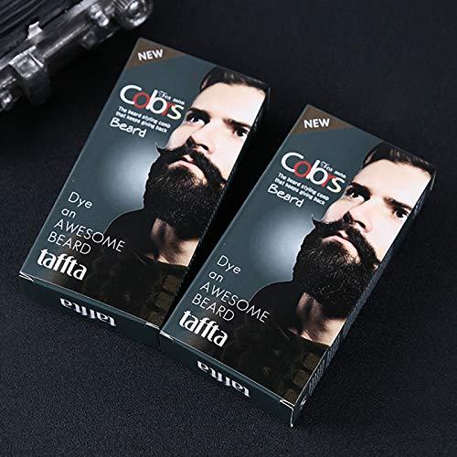 Zehui Crema Tinte Bigote Barba Hombres, Crema Tinte