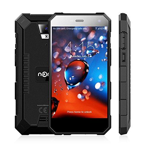 Nomu S10 PRO Smartphone Ohne Vertrag Outdoor Handy mit Dual SIM 5.0 Zoll, 4G Android 7.0, 3GB RAM+32GB ROM, IP69, Quad Core, 5000mA 13.0MP Hauptkamera Wasserdichtes Staubdichtes Stoßfestes (Schwarz)