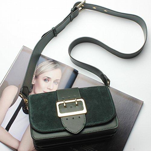 Damen Handtasche Mode Casual Casual Schulter Tasche Kreuz Leder Paket Damen Tasche Dunkelgrün
