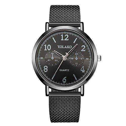 Damenuhr dünne PVC-Quarzuhr weibliche Modelle Sport Persönlichkeit Mode Uhr schwarz -