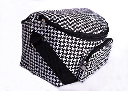 Adult's 12-hour Shift 2-sided Lunch Bag (Houndstooth) by Balanced Day Bags Houndstooth Shift