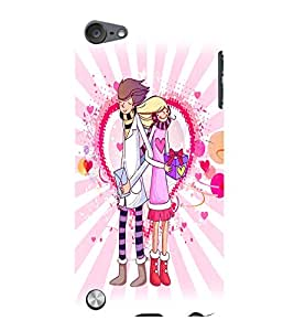 Fuson Love Couple Back Case Cover for APPLE IPOD TOUCH 5 5th Gen - D3968