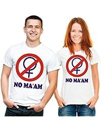 T-Shirt No MA'AM (mit Druck auf der Rückseite) Al Bundy