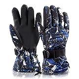 Joylink Guanti Sci, Guanti riscaldati per Uomo e Donna, Guanti da Sci, Snowboard , Impermeabile, Termico Thinsulate, XL/ 28 cm