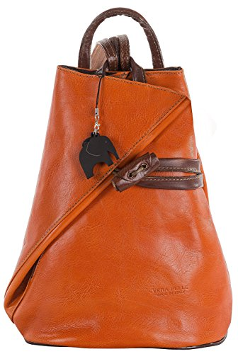 Big Handbag Shop, Borsa a spalla donna Orange & Brown