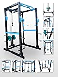 BodyRip Pro Exercise Equipment Sturdy Max Power Cage Racks with Heavy Duty Multi