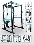 BodyRip Pro Power Cage Rack Streckzug- & Latzugmaschine, Kraftstation für Kniebeugen, Armrotation