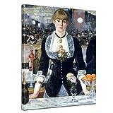 Bilderdepot24 Kunstdruck - Alte Meister - Édouard Manet - Bar in Den Folies-Bergère - 30x40cm Einteilig - Leinwandbilder - Bilder als Leinwanddruck - Bild auf Leinwand - Wandbild