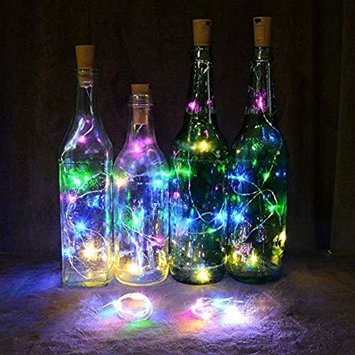 Solar Cork Wine Bottle Fairy Light gaddrt 1 M x 10 LED Solar Cork Weinflasche Stopper Kupfer Draht Lichterkette Feenhafte Lampen (Mehrfarbig) -