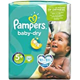 Pampers Baby Dry Carry Pack - Size 5+, 22 Nappies
