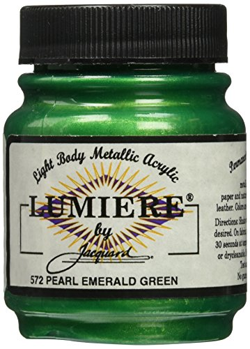 jacquard-products-225-oz-lumiere-metallic-acrylic-paint-pearlescent-emerald