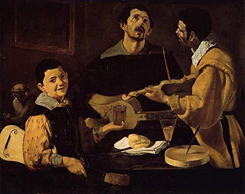 50€-2000€ Handgefertigte Ölgemälde - DREI Musiker auch bekannt als musikalisches Trio Diego Velozquez Gemälde auf Leinwand Kunst Werk Ölmalerei - Malerei Maße11 -