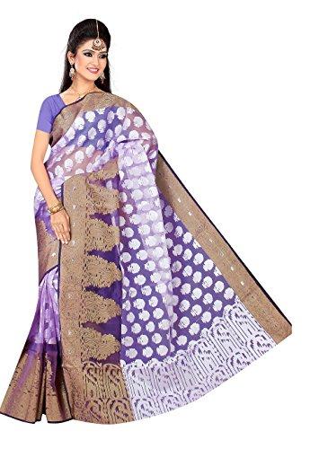 Makeway Tissue Saree (286-1216_Purple)
