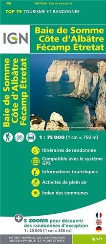 TOP75036 BAIE DE SOMME/COTE D'ALBATRE/FECAMP/ETRETAT par IGN