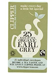 Clipper Organic Earl Grey 25 Teabags (Pack of 6, Total 150 Teabags)