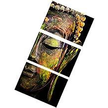 Conjunto Decoración para Puerta Pared Impresión Mapa Lona de Cartel Cuadro Arte Pintura - Buda Cara 2, 40x60cm
