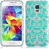 JAMMYLIZARD | Damast- Motiv Back Cover Hülle für Samsung Galaxy S5 Mini, GRÜN