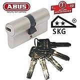 ABUS EC550 - Bombín cilíndrico para puerta (largo 30/45mm, incluye 5 llaves)