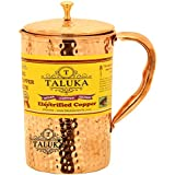"""[Sponsored]Taluka ( 4"""" X 9"""" Inches) Pure Copper Hammered Jug Pitcher 