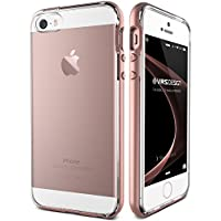 iPhone SE Case / iPhone 5S Case / iPhone 5 Case VRS Design® [Rose Gold] Dual Layer Clear Back Slim Fit Shockproof Protective Cover [Crystal Bumper]