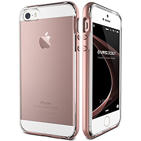 iPhone 5/5S/SE Case, VRS Design® [Rose Gold] Clear Back Slim