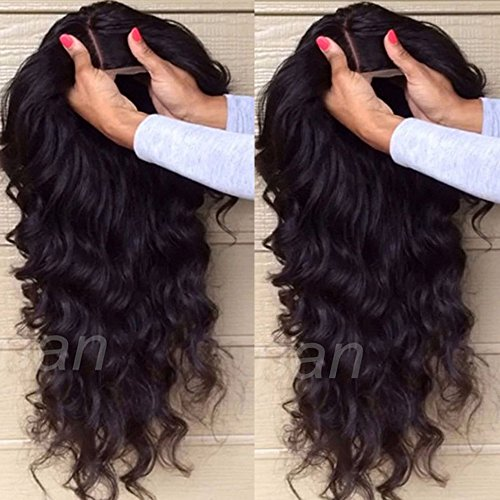 S-noilite ®, parrucca ondulata in capelli veri brasiliani non trattati, lace front senza collanti, parrucca capelli ricci, ondulati con attaccatura naturale