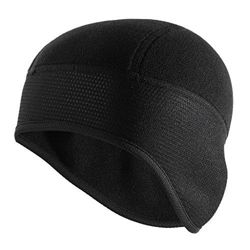 MagiDeal Bike Cap für Outdoor Sport Fahrrad Motorradfahren Mütze Skull Caps, Schwarz, Kopfbedeckung Helm Unterziehmütze