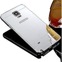 Samsung Galaxy Note 4 Case Cover, Sunroyal® Nuovo Acrilico Copertura Di Caso Protezione Shinny Bling Custodia Struttura Metallica Fusion Mirror in Alluminio Protettiva Cassa per Galaxy Note 4 N9100 5.7