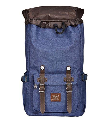 KAUKKO Zaino nuovo modello con 2 Tasche Laterali Unisex - colore Camouflage Pixel Blu-03