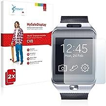 2x Vikuiti MySafeDisplay protector de pantalla CV8 de 3M para Samsung Galaxy Gear 2 Neo SM-R381